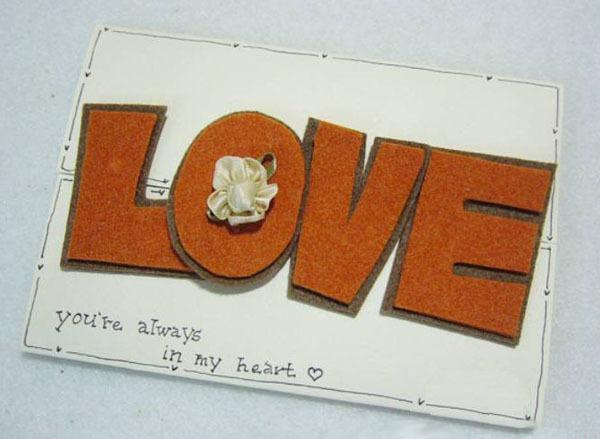 """Tự làm thiệp độc đáo với khóa cài bằng chữ """"LOVE"""" 6"""