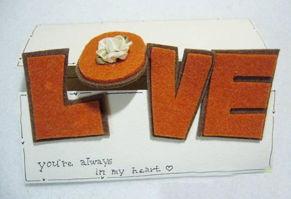 """Tự làm thiệp độc đáo với khóa cài bằng chữ """"LOVE"""" 7"""