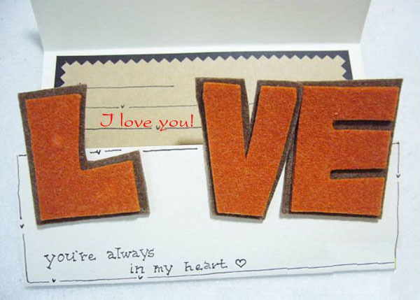 """Tự làm thiệp độc đáo với khóa cài bằng chữ """"LOVE"""" 8"""
