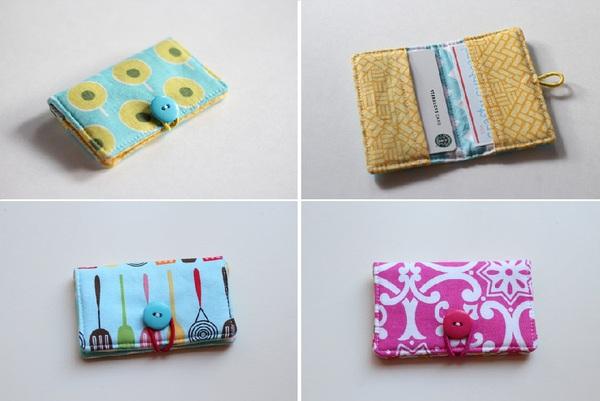 Tự may ví đựng thẻ nhỏ xinh tiện dụng 8