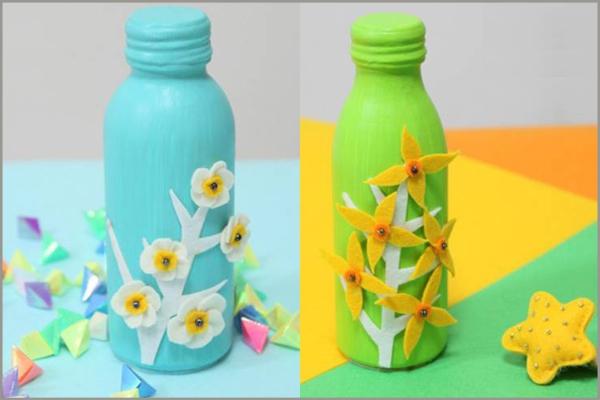 Đồ trang trí đẹp mắt tái chế từ chai nhựa 9