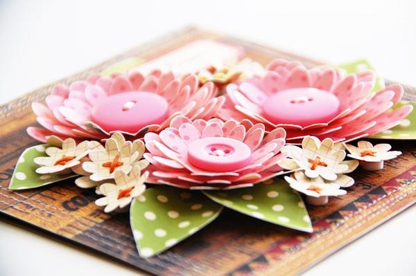 Tự làm thiệp nổi hoa giấy giản dị và xinh xắn! 1