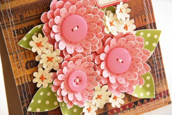 Tự làm thiệp nổi hoa giấy giản dị và xinh xắn! 8
