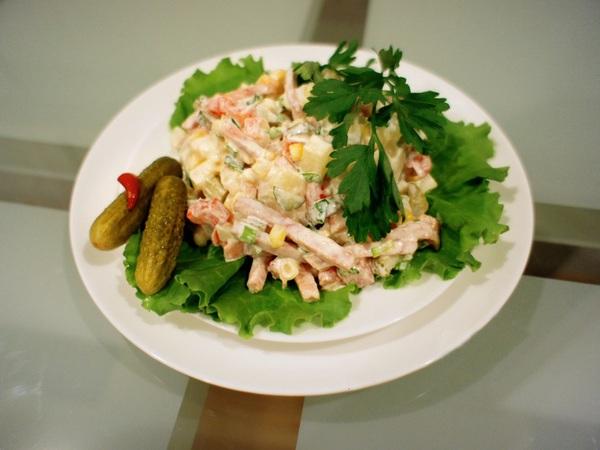 Cách làm salad Nga vị dứa tuyệt thơm 6