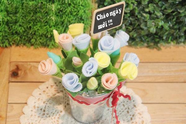 Làm hoa vải lãng mạn trang trí nhà thêm xinh 1