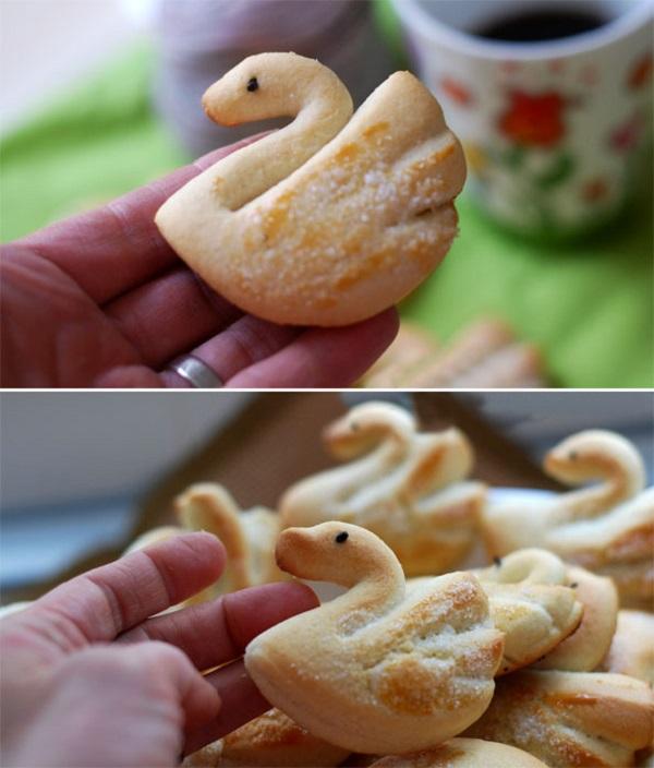 Làm bánh quy bơ hình thiên nga cực xinh 7
