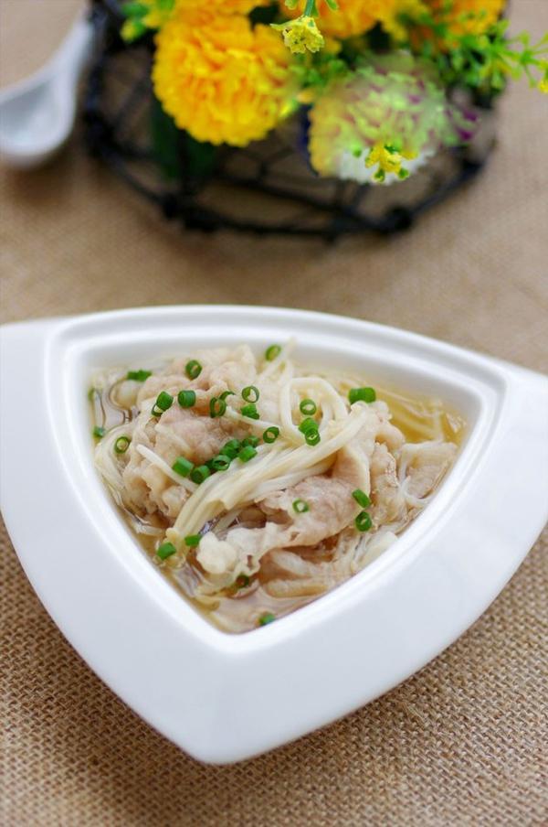 Canh thịt nấu nấm ngọt thơm mát lành 13