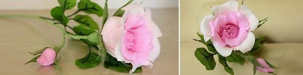 Làm hoa hồng giấy khổng lồ thật ấn tượng 12