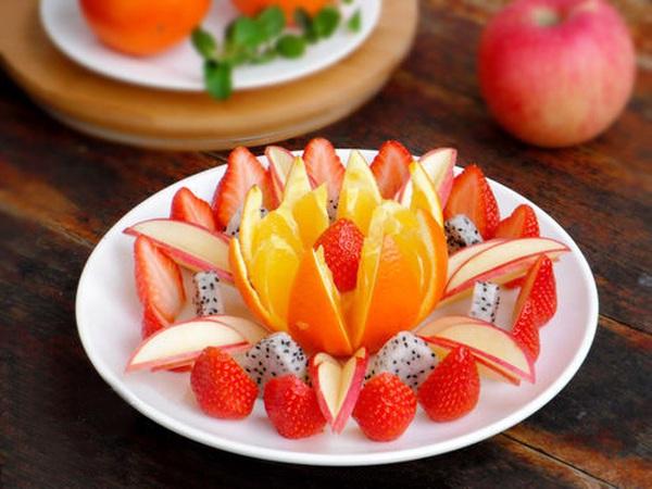 Hướng dẫn cách bày hoa quả sinh động và hấp dẫn 15