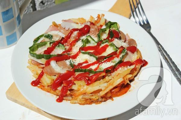 Không cần lò nướng, làm pizza tuyệt ngon từ khoai tây 1