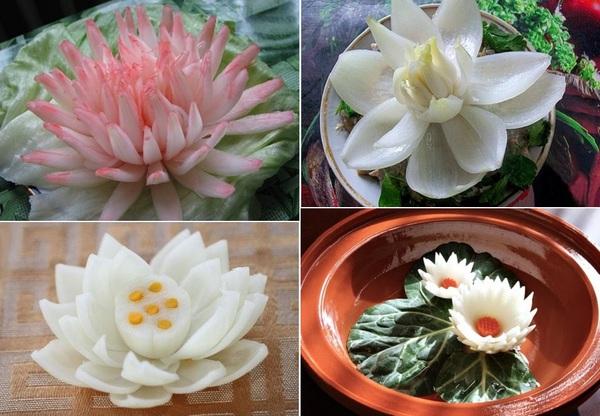 4 cách tỉa hành tây thành hoa thật dễ dàng 5