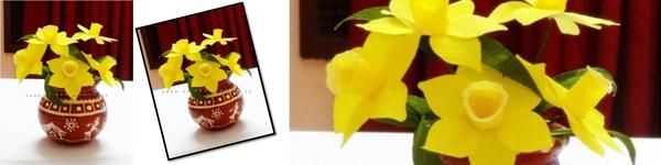 3 bước đơn giản làm hoa thủy tiên giấy 14