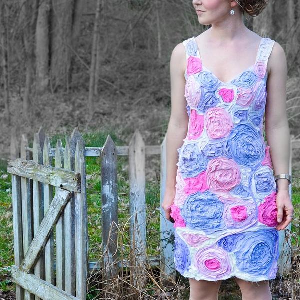 Tự may đầm hoa xinh yêu từ váy ngủ cũ 12