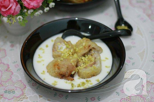 Chè chuối cốm ngọt thơm hương vị mùa thu 1