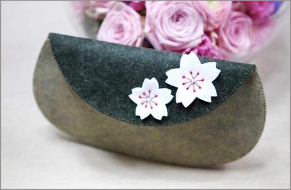Khéo tay tự may ví cầm tay hoa đào xinh xắn 1