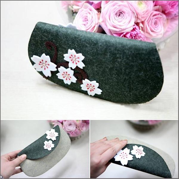 Khéo tay tự may ví cầm tay hoa đào xinh xắn 14