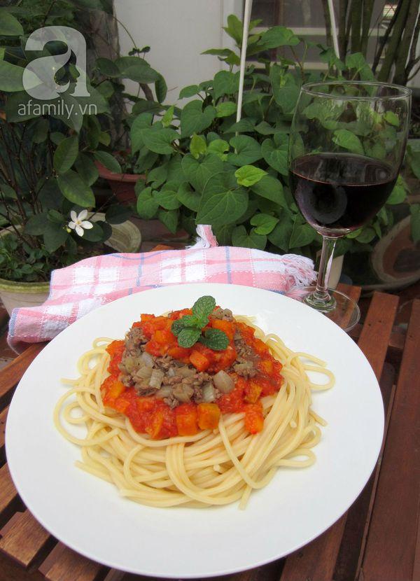 Mỳ Ý xốt cà chua bò băm làm nhanh ăn ngon 1
