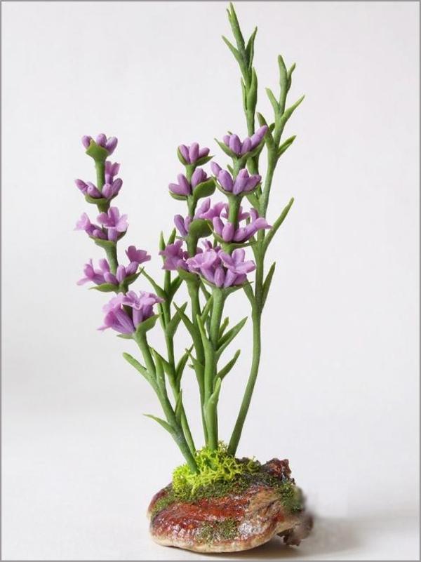Cách làm hoa oải hương từ đất sét cực đẹp mà đơn giản 1