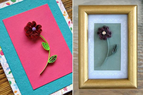 Tự làm thiệp hoa giấy xoắn nhỏ xinh đáng yêu 13