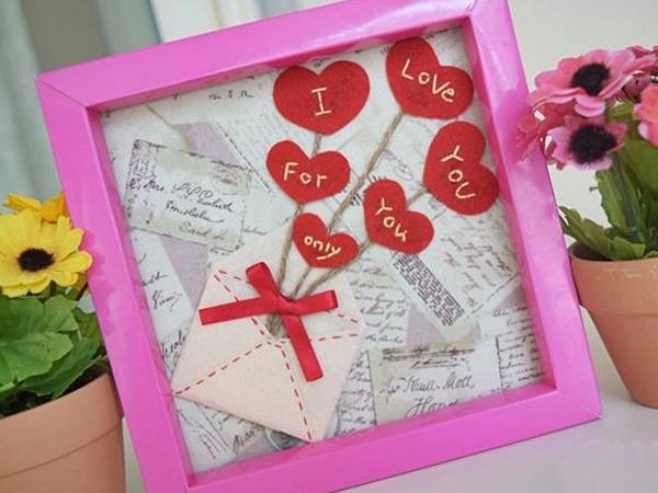 Lãng mạn với khung tranh bức thư tình yêu tự chế 1