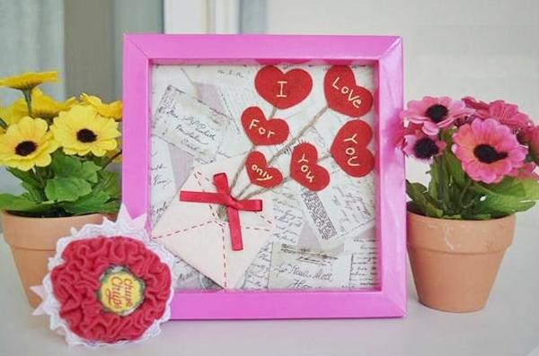 Lãng mạn với khung tranh bức thư tình yêu tự chế 16