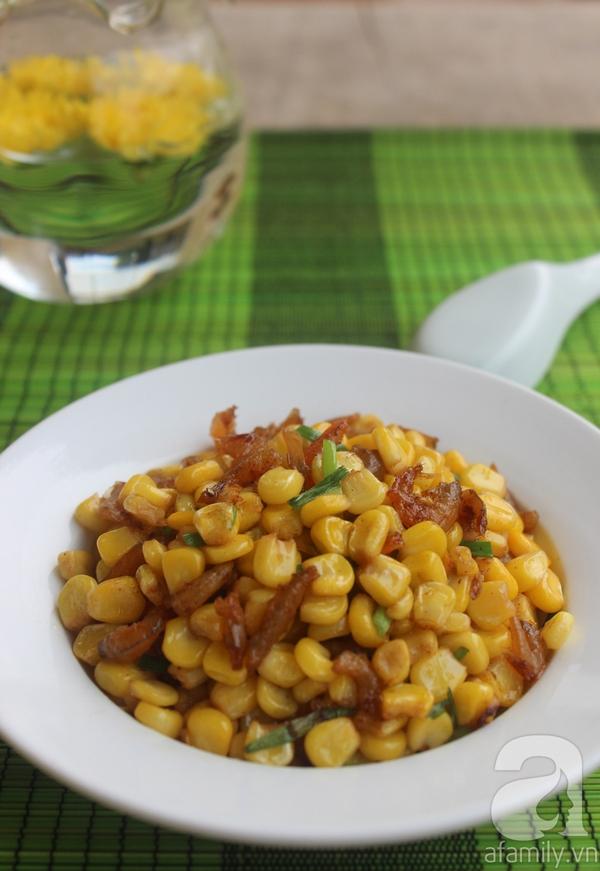 Làm món bắp xào cực ngon ăn vặt trong ngày giao mùa 23