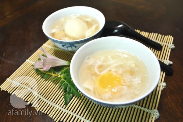Thanh mát lạ miệng với món chè trứng củ năng  1