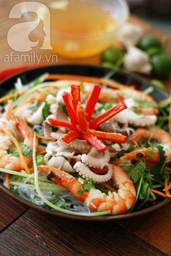 Món ngon cuối tuần: Miến trộn hải sản 1