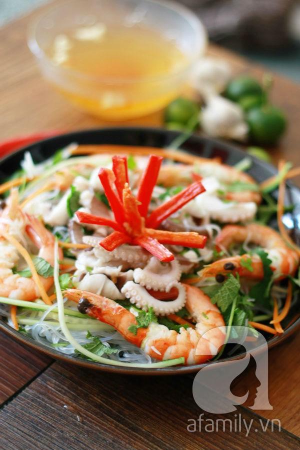 Món ngon cuối tuần: Miến trộn hải sản 14