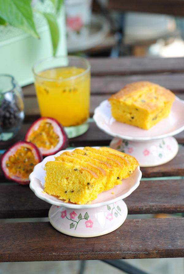Chua thơm hấp dẫn món bánh bông lan chanh dây 12