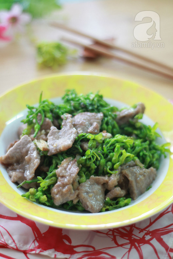 Đầu tuần ngon cơm với thiên lý xào thịt bò  16