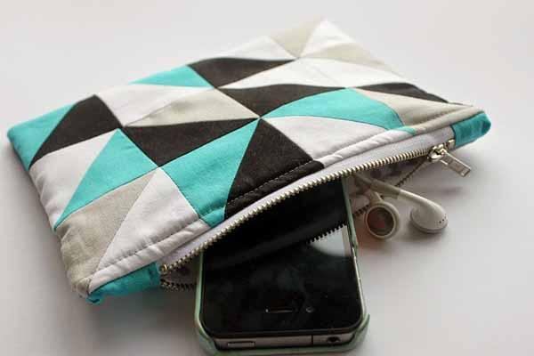 Cách ghép vải quilting tự may ví cầm tay xinh xắn 1