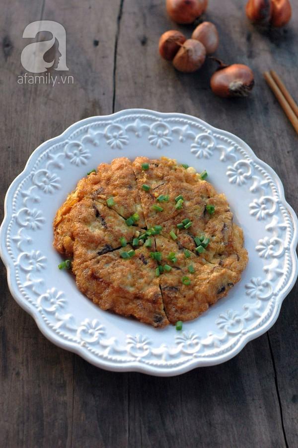 Ngon bổ món trứng tráng thịt gà nấm  17