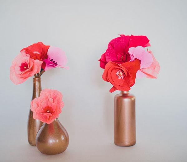 Cách làm hoa giả từ giấy nhún cực đẹp mà dễ 14