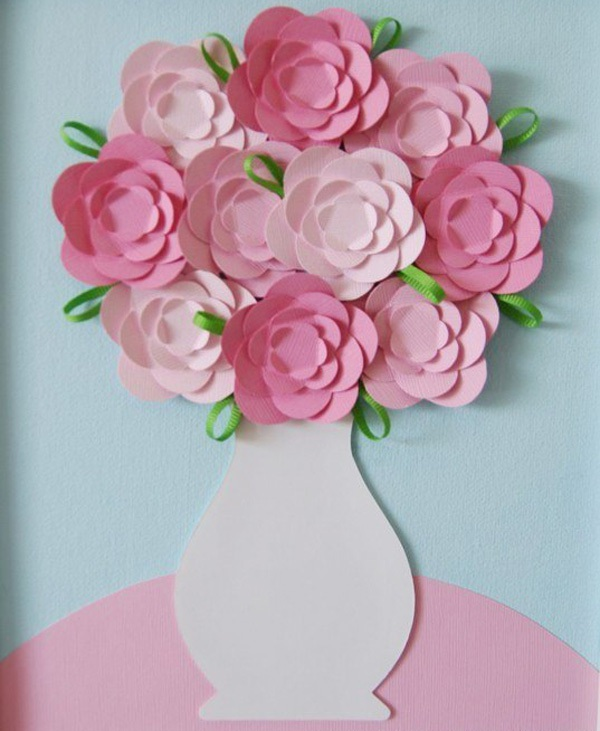 Tự chế tranh lọ hoa trang trí nhà thêm lãng mạn 13