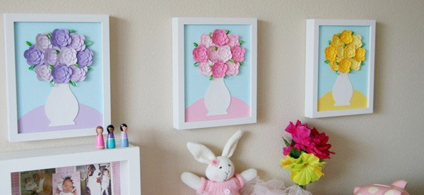 Tự chế tranh lọ hoa trang trí nhà thêm lãng mạn 14