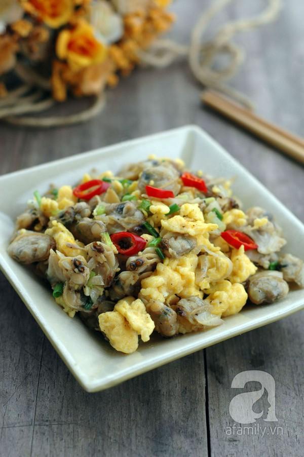 Trứng xào ngao giản dị ngon cơm cho bữa tối 1