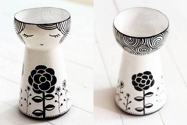 Biến chai nước cũ thành lọ hoa kiểu Nhật
