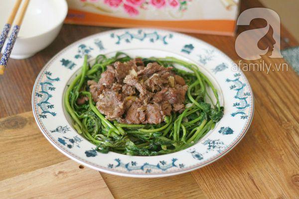 Giản dị ngon cơm với rau lang xào thịt bò 20