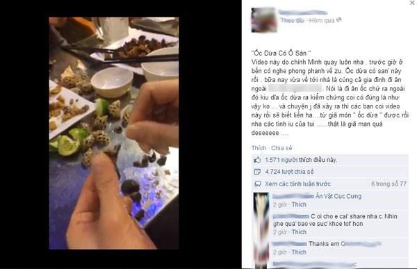 Kinh hãi clip ăn ốc dừa móc ra được cả ổ giun sán 1