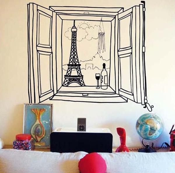 Trang trí nhà với những mẫu đề can dán tường tuyệt đẹp 5
