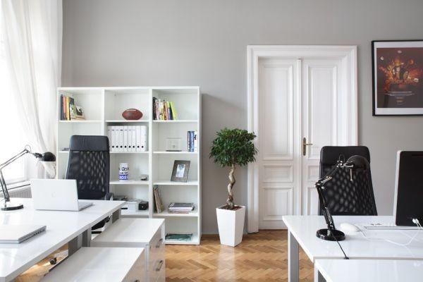Đen - trắng: Cặp màu kinh điển cho phòng làm việc đẳng cấp 1