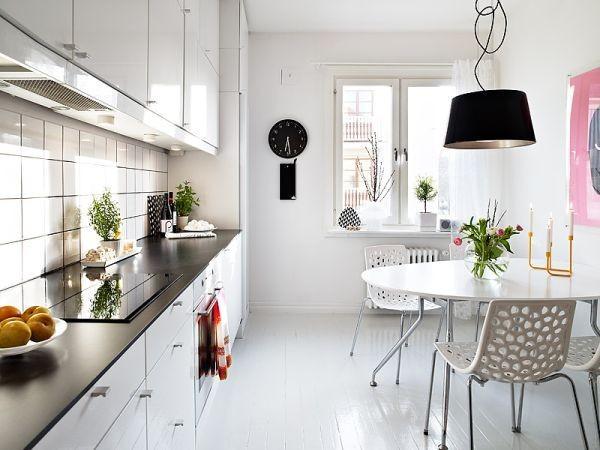 Trắng - Gam màu hot dành cho phòng bếp năm 2014 2