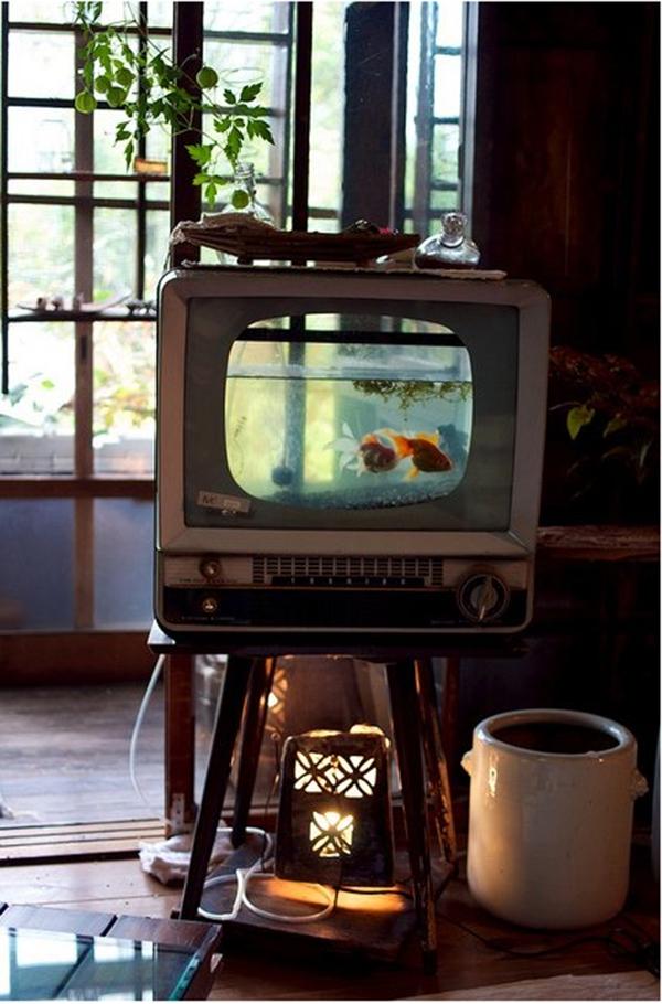 5 ý tưởng bất ngờ biến tivi cũ thành đồ dùng hữu dụng  2