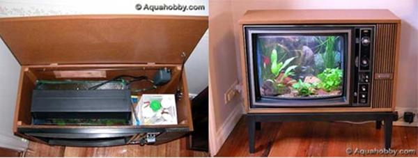 5 ý tưởng bất ngờ biến tivi cũ thành đồ dùng hữu dụng  1