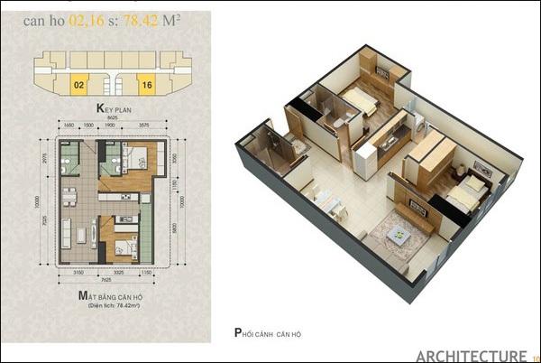 Biến hóa căn hộ nhỏ từ 2 thành 3 phòng ngủ 1