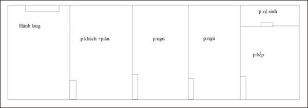 Tư vấn cải tạo căn hộ 60m² 3 phòng ngủ cho hộ gia đình 1