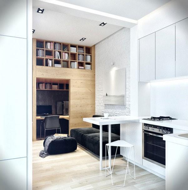 Ngôi nhà 18m² đậm cá tính nhờ nội thất gỗ độc đáo 2