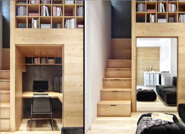 Ngôi nhà 18m² đậm cá tính nhờ nội thất gỗ độc đáo 4