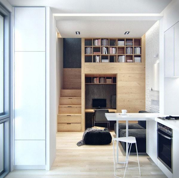 Ngôi nhà 18m² đậm cá tính nhờ nội thất gỗ độc đáo 1